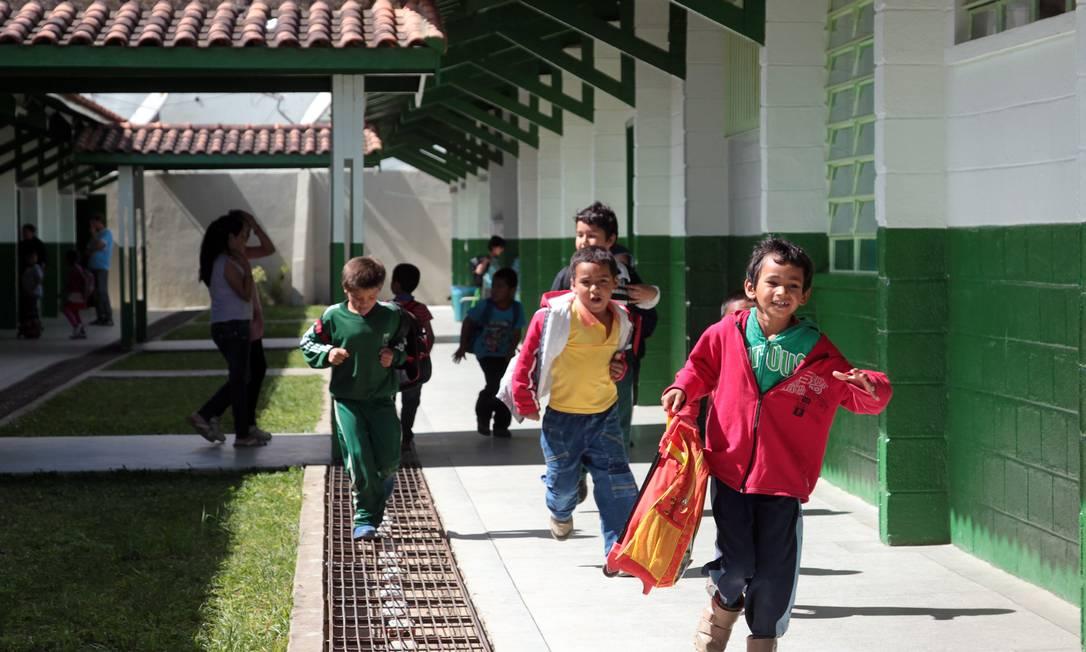 Escola Municipal Prof. Leonor Mendes de Barros, em Barra do Chapéu (SP) Foto: Eliaria Andrade / O Globo