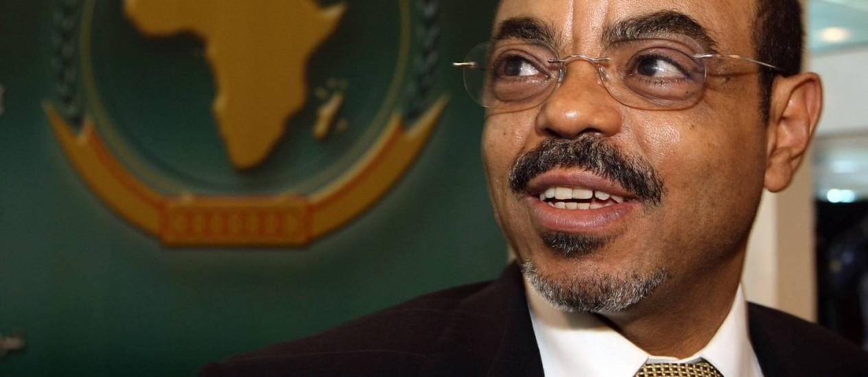 O primeiro-ministro da Etiópia, Meles Zenawi, morreu de infecção Foto: Cris Bouroncle / AFP