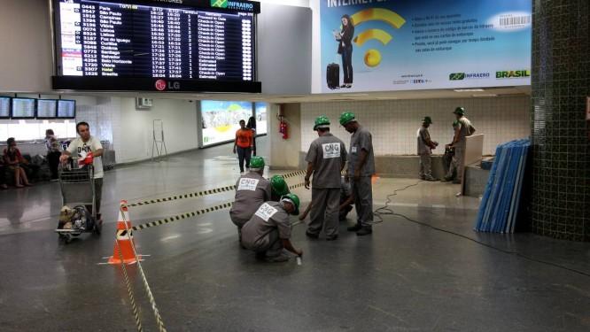 Aeroporto Internacional do Rio inicia obras no Terminal 1 de olho na Copa do Mundo de 2014 Foto: Felipe Hanower