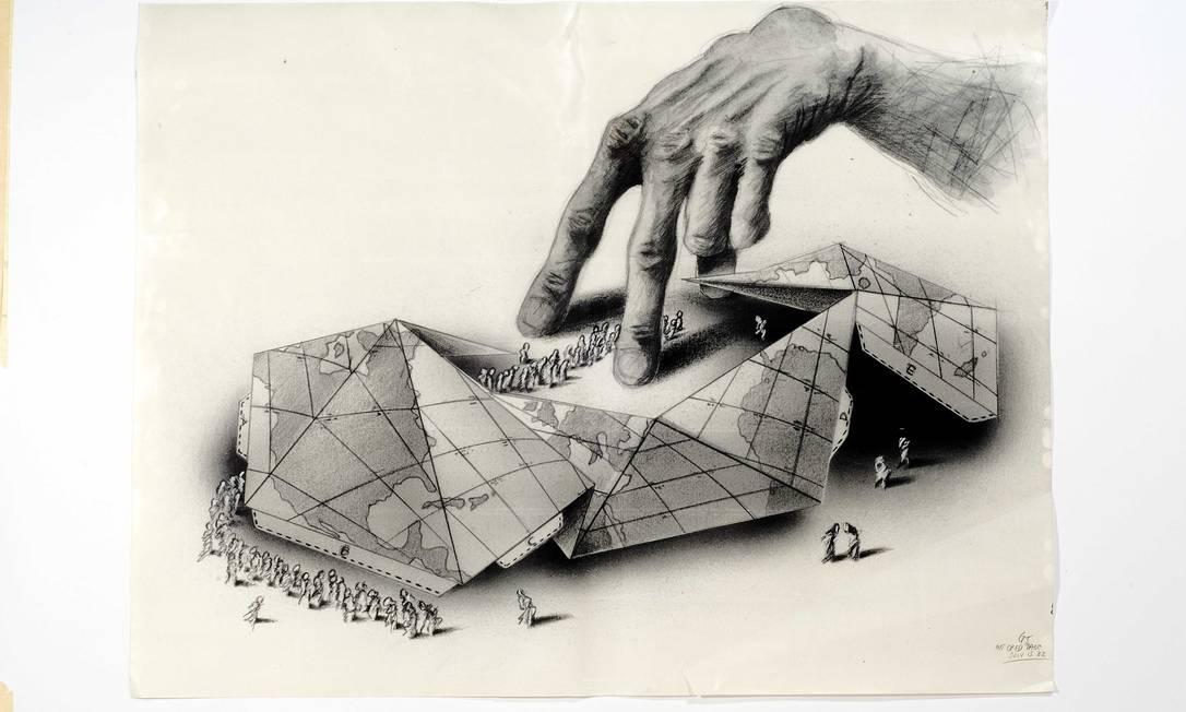"""Desenho feito para o """"New York Times"""" em 1982 que estará no livro da Editora Cobogó Foto: Reprodução"""