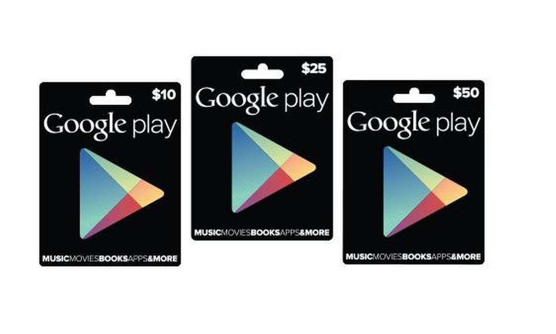 Novos cartões de presente da Google Play Foto: Divulgação