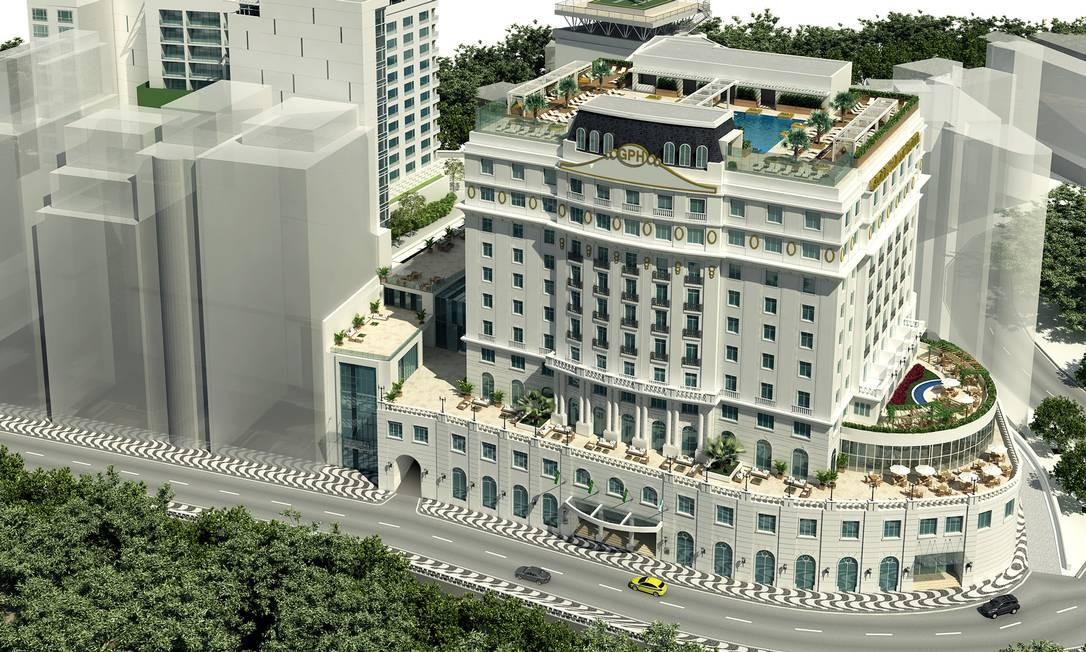 O hotel de luxo foi inaugurado em 1922 e tem uma localização estratégica: perto do Centro do Rio e do Aeroporto Santos Dummont Foto: Divulgação