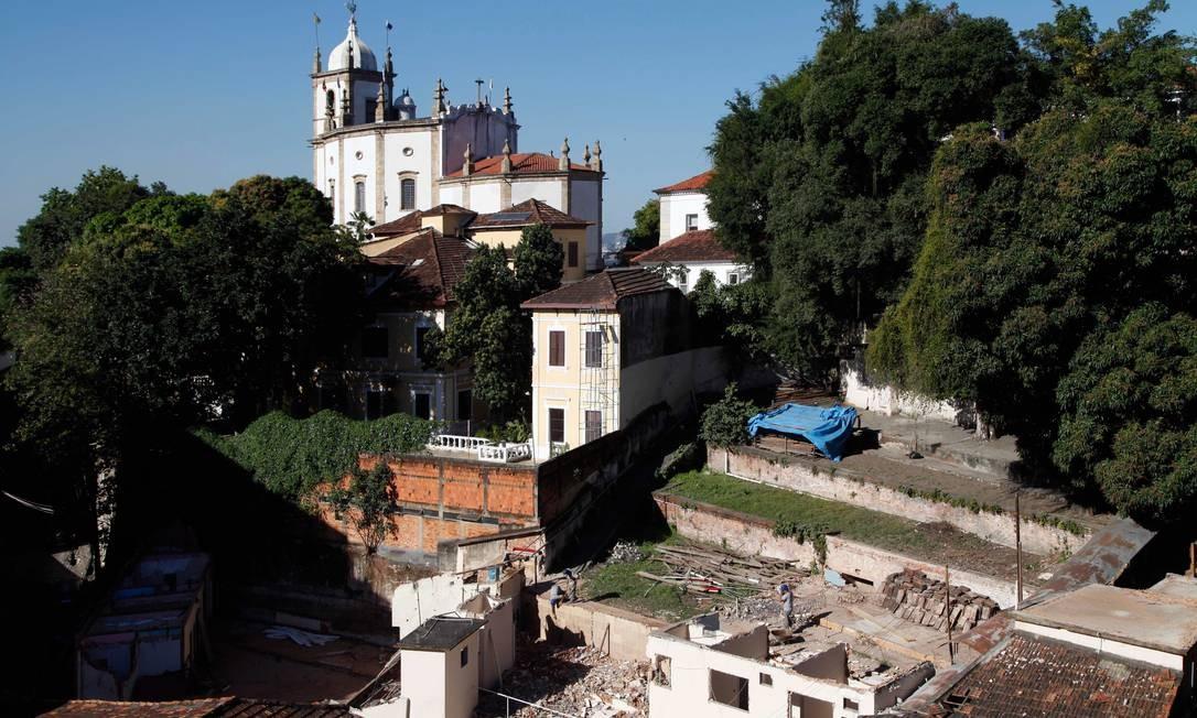 Obras nas casas tombadas na Villa Aymoré Foto: Ana Branco / O Globo
