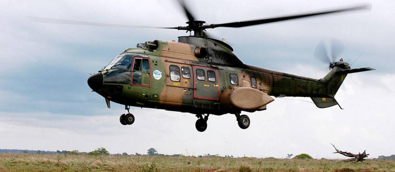 Helicóptero da FAB é usado nas buscas a monomotor desaparecido Foto: Força Aérea Brasileira / Divulgação