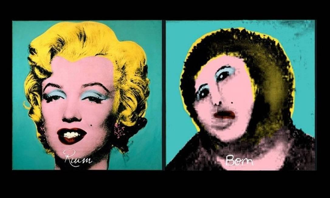 E se dona Cecília restaurasse Andy Warhol? Foto: Reprodução