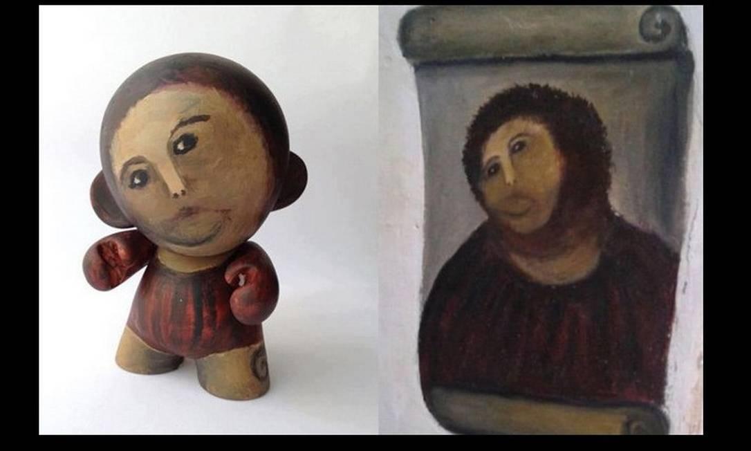 O Cristo de Borja também ganhou versão em toy art Foto: Reprodução