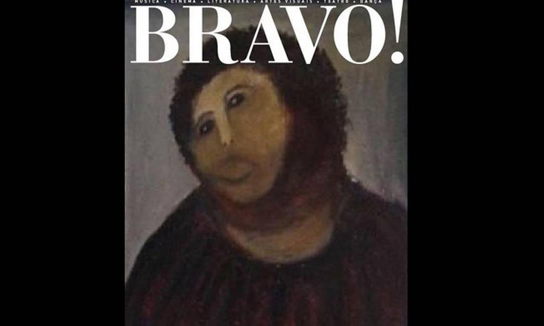A acapa da revista 'Bravo!' com a famosa pintura Foto: Reprodução