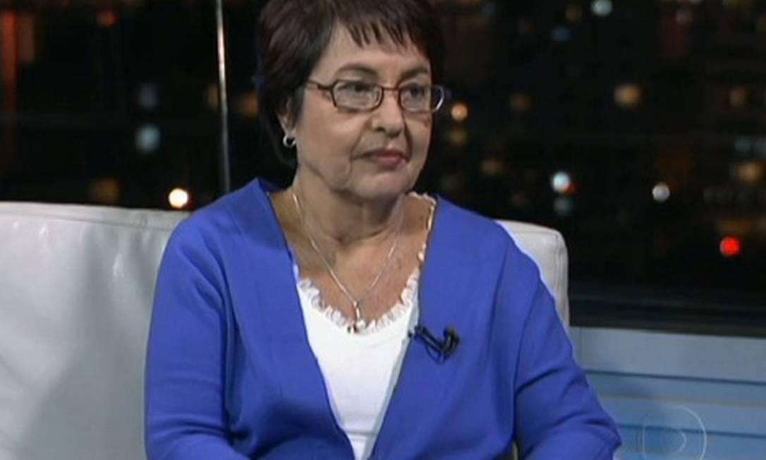 Aspásia Camargo, candidata do PV à prefeitura do Rio Foto: Reprodução TV