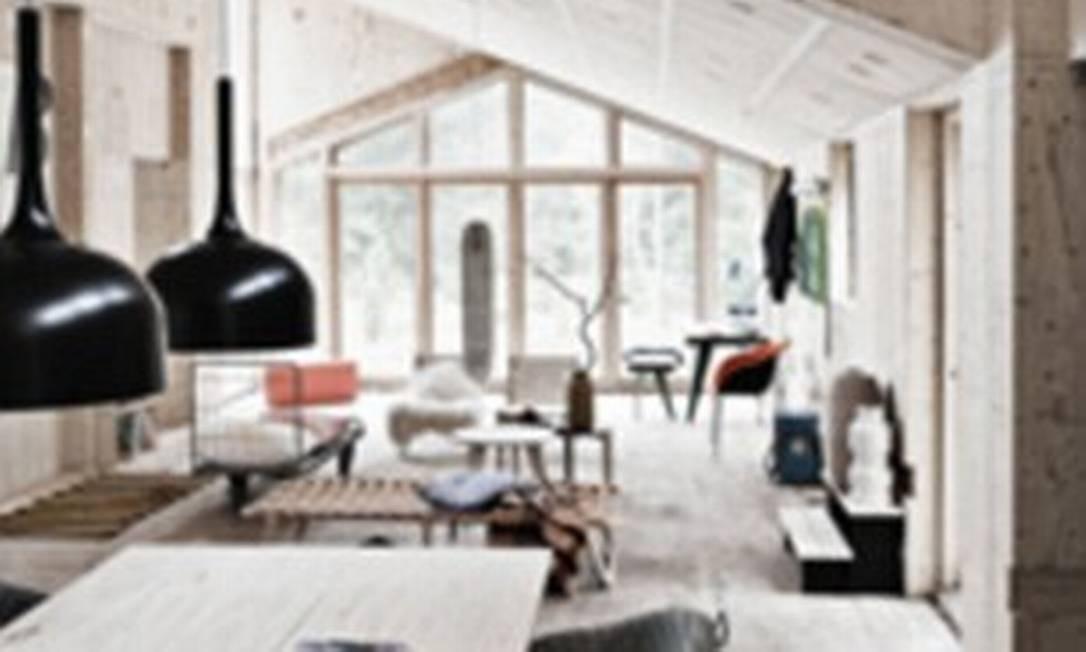 Veja como ficou a decoração desta casa sem prego nem concreto Foto: Reprodução internet/Daily Mail