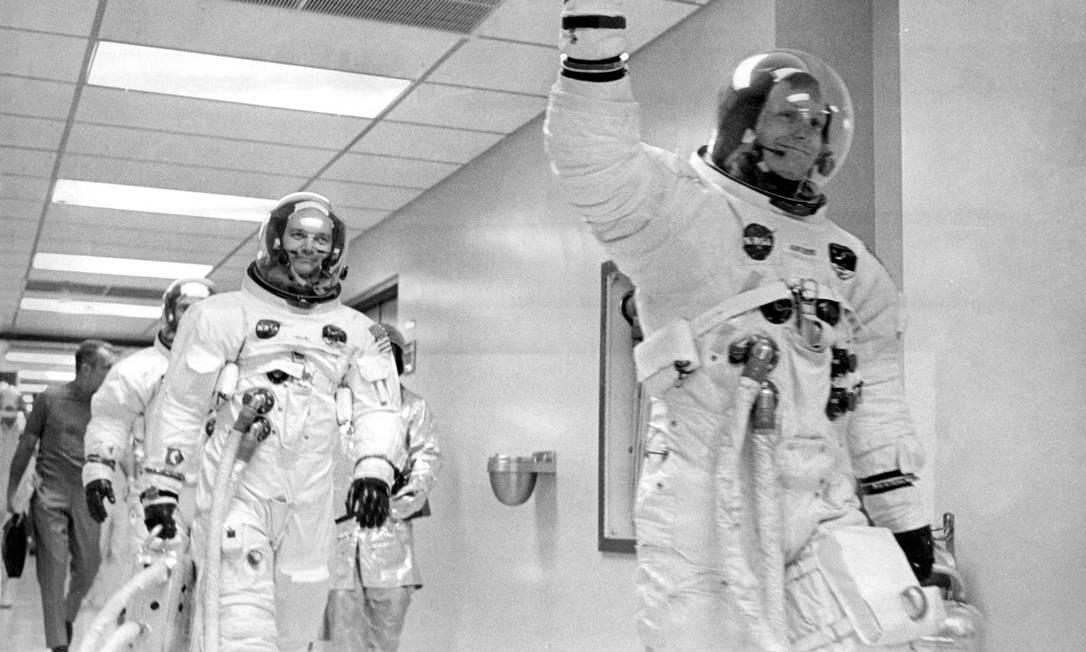A Apollo 11 foi a quinta missão do Programa Apollo, que tinha como objetivo chegar à Lua Foto: Agência O Globo