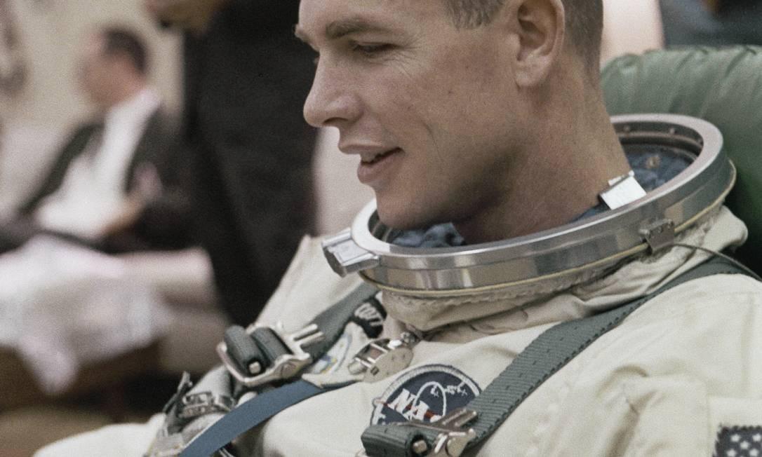 Em meio à corrida espacial disputada pelos EUA e pela URSS na Guerra Fria, a Nasa confiou ao astronauta Neil Armstrong a missão Apolo 11, com destino à Lua Foto: File / AP