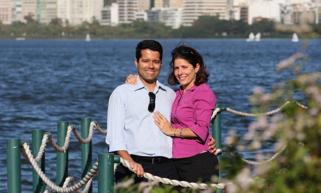 Vinícius e Patrícia, juntos há dez anos, não querem ter fílhos Foto: Agência O Globo / Márcio Alves