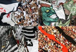 Fotos históricas de Vasco x Flu e Botafogo x Fla Foto: O Globo