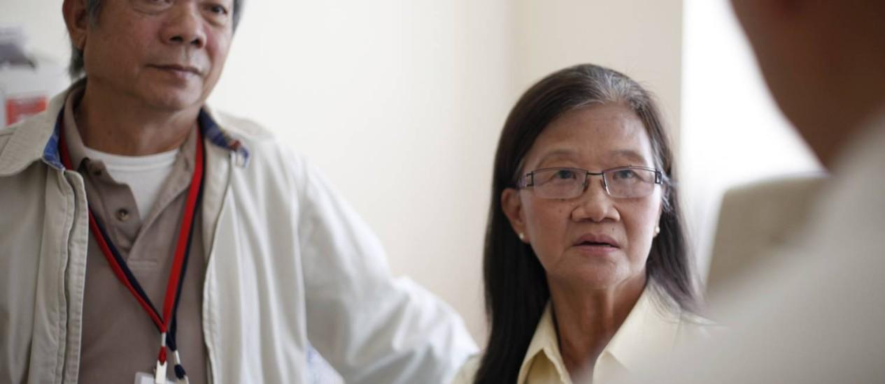 Kim Nguyen, ao lado do marido Foto: AP