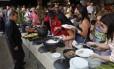 Fartura foi a orientação do bufê da Cidade do Samba