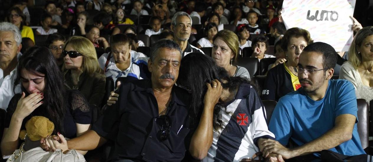 A família de Diego esteve presente no evento Foto: Pablo Jacob / O Globo