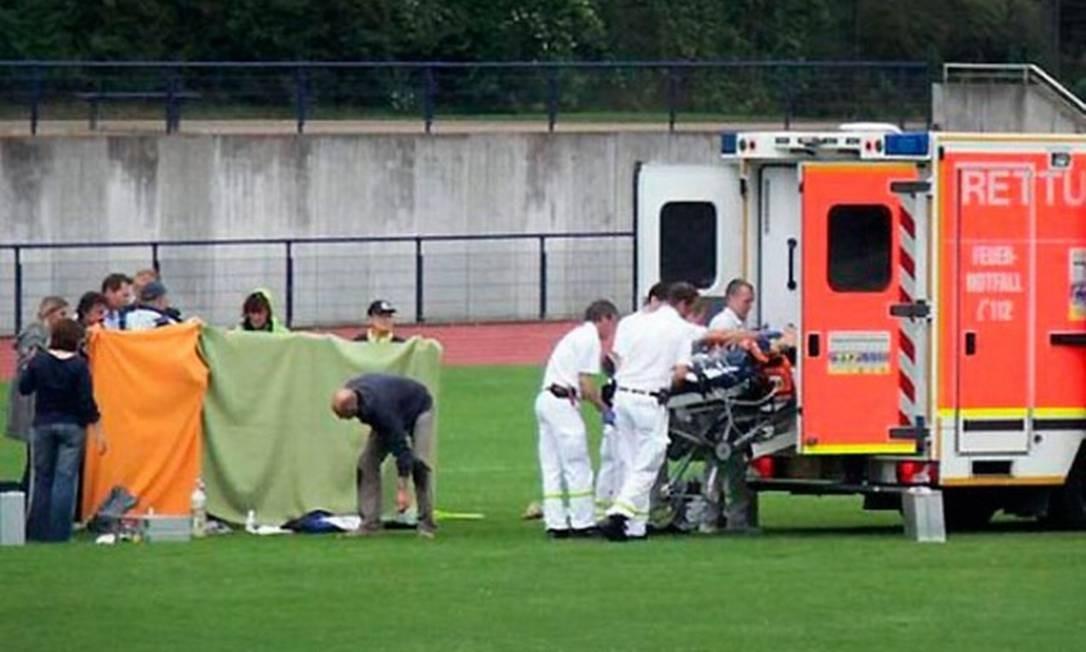 Juiz morreu ao ser atingido por dardo em competição de atletismo Foto: Reprodução