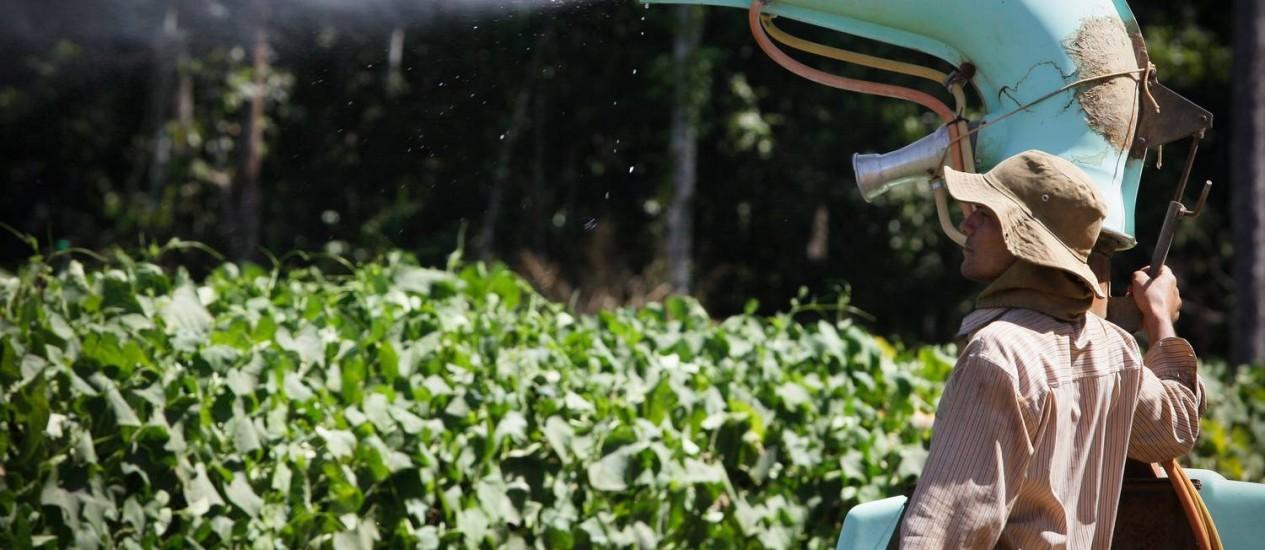 Uso de agrotóxico em lavouras de Campo Verde Foto: Marcos Alves
