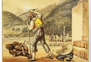 A escravidão é um dos temas recorrentes na prova de Ciências Humanas do Enem Foto: Jean Debret / Reprodução