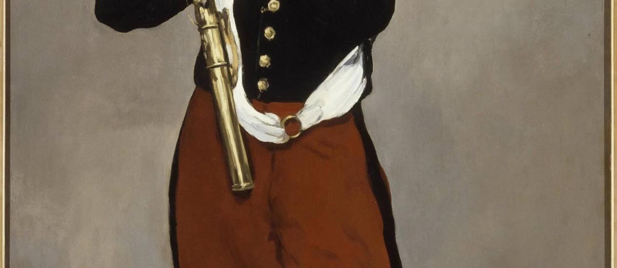 """Detalhe de """"O tocador de pífaro"""", de Édouard Manet, na mostra """"Impressionistas"""", no CCBB de São Paulo Foto: Terceiro / Divulgação"""