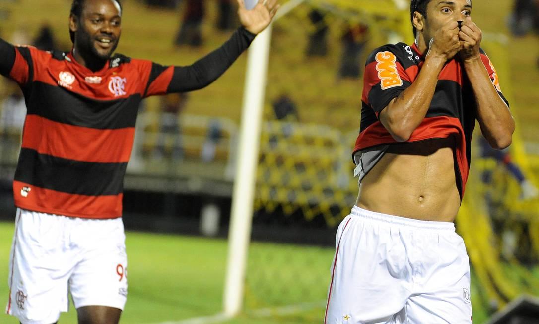 Ibson abriu o placar para o Flamengo logo no começo do jogo Divulgação Fla Imagem