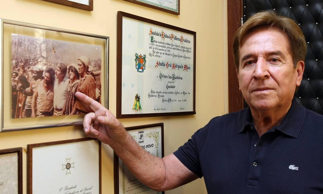 Acusação aceita. Sebastião Rodrigues de Moura, o Curió, terá 10 dias para fazer sua defesa Foto: O Globo / Ailton de Freitas