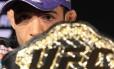 O campeão dos penas do UFC, o brasileiro José Aldo