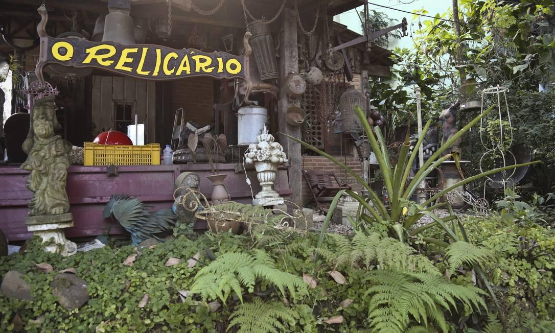 O Relicário, que fica no Espaço Néctar, reúne cerca de 2.500 peças Foto: Paula Giolito