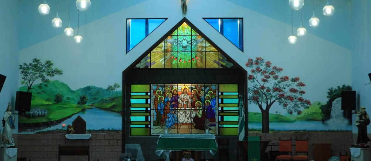 A igreja tem capacidade para cerca de 300 pessoas Foto: Guilherme Leporace