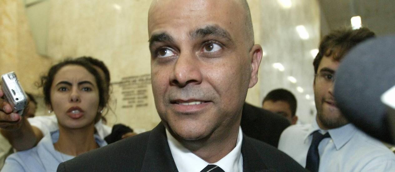 Empresário e réu do julgamento do mensalão, Marcos Valério Foto: Agência O Globo / Givaldo Barbosa