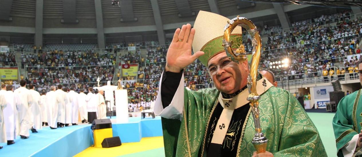 D. Orani: 'A Igreja não é nem conservadora nem progressista' Foto: Agência O Globo / Domingos Peixoto 24.07.2012