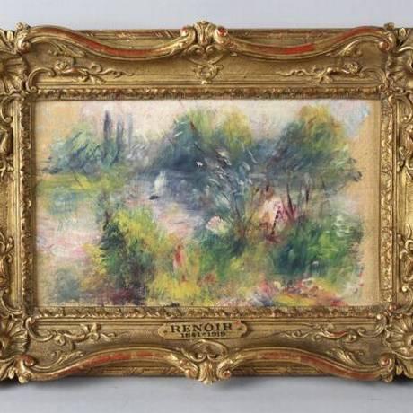 Quadro de Renoir, comprado em mercado de pulgas, teria sido furtado de museu Foto: Reprodução