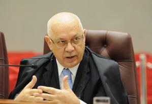 O ministro do STJ, Teori Zavascki, indicado para o STF no lugar do ex-ministro Cezar Peluso Foto: Divulgação