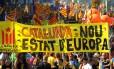 Marcha convocada para esta terça-feira acontece sob o lema 'Catalunha, o novo Estado da Europa'