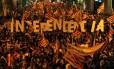 Reunidos em Barcelona, manifestantes pedem a independência da Catalunha