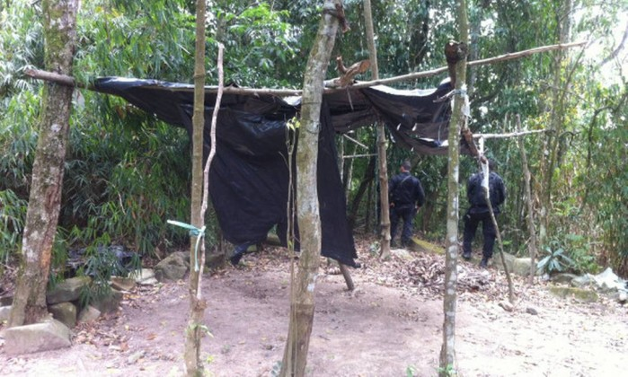 Bope encontra cinco acampamento de traficantes na mata de Gericinó