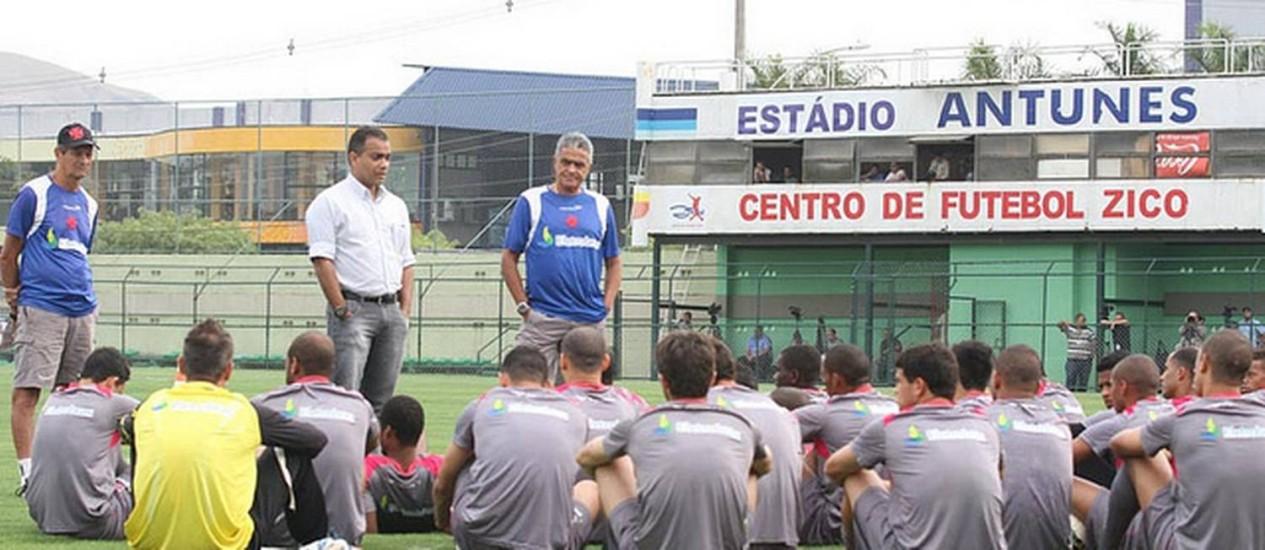 Daniel Freitas e Gaúcho durante o treino desta terça no CFZ Foto: Divulgação / Site do Vasco