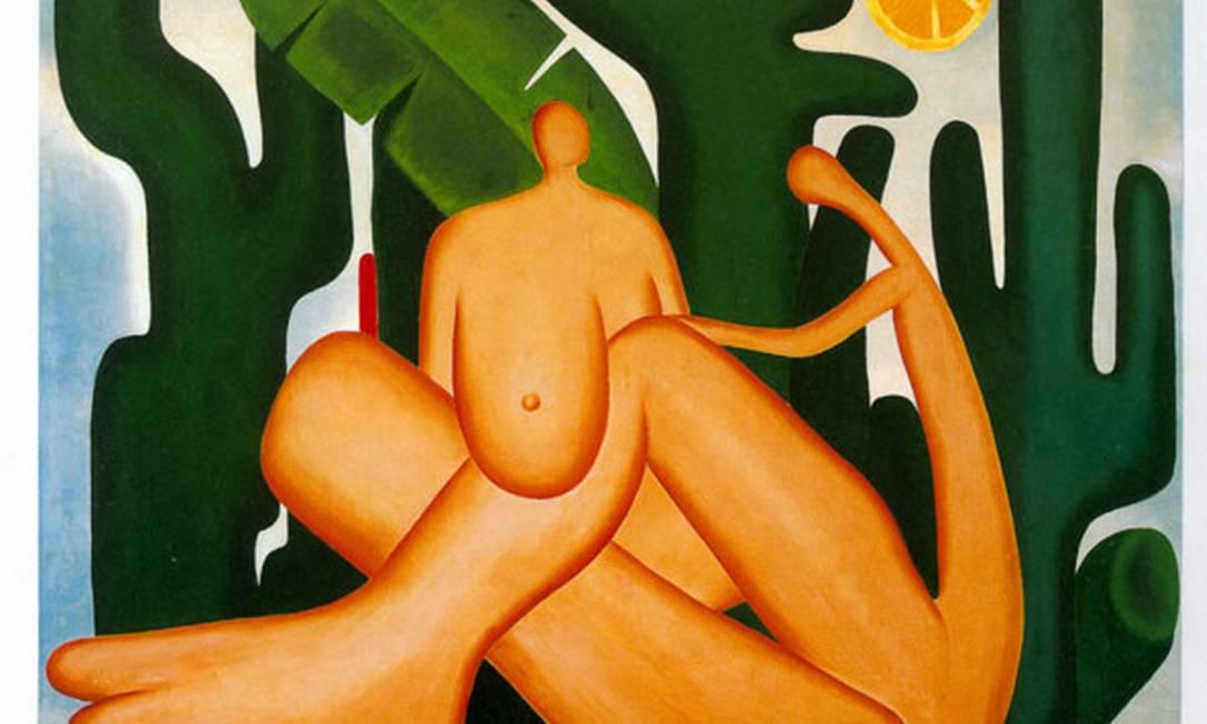 """Quadro """"Antropofagia"""", de Tarsila do Amaral: movimento modernista Foto: Reprodução"""