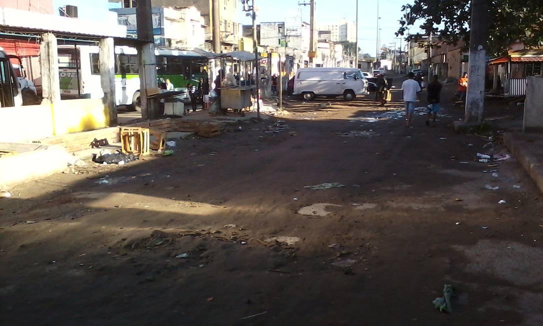 Leitor reclama da falta de pavimentação das ruas do Centro de Belford Roxo Foto do leitor Sebastião Araújo / Eu-Repórter