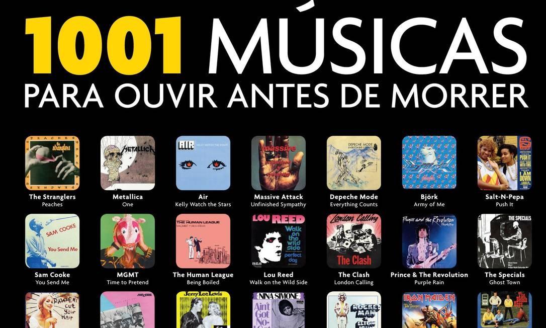 Capa do livro '1001 músicas para ouvir antes de morrer', que traz sete canções brasileiras Foto: Reprodução