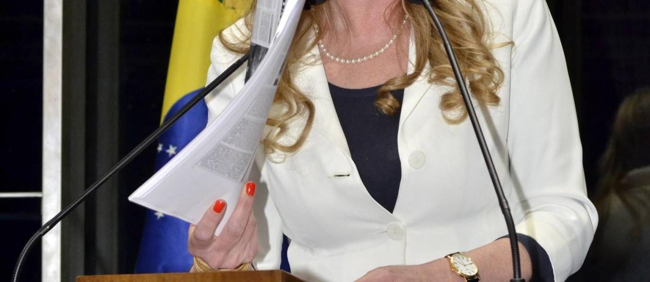 Senadora Vanessa Grazziotin é candidata do PCdoB à prefeitura de Manaus Foto: Arquivo O Globo