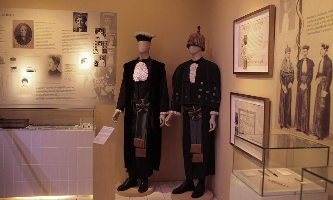 Museu da Justiça exibe modelos de togas usadas por magistrados ao longo dos tempos Foto: Gustavo Stephan / O Globo