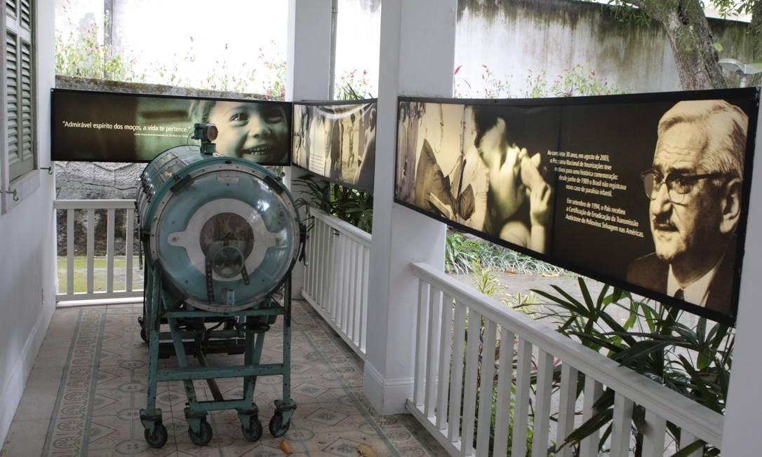 Museu da Pediatria tem aparelhos que já saíram de uso Foto: Gustavo Stephan / O Globo