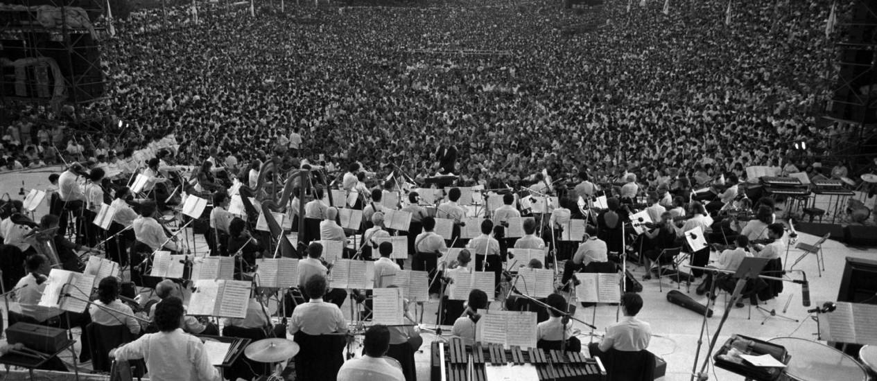 Concerto na Quinta da Boa Vista em 1987 Foto: Luiz Ávila / Agência O Globo