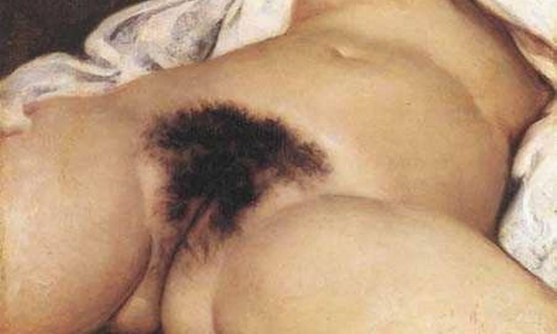 """Quadro """"A origem do mundo"""", de Gustave Courbet foi doado ao Museu D'Orsay, em Paris, em 1995. Sua exibição motivou a interrupção da transmissão da palestra de Jorge Coli na ABL. A palestra fazia parte do ciclo """"Mutações - O futuro não é mais o que era"""", organizado pelo filósofo Adauto Novaes, e discutia o sexo e a pornografia no contexto atual de avanço do moralismo e do conservadorismo Foto: Reprodução"""