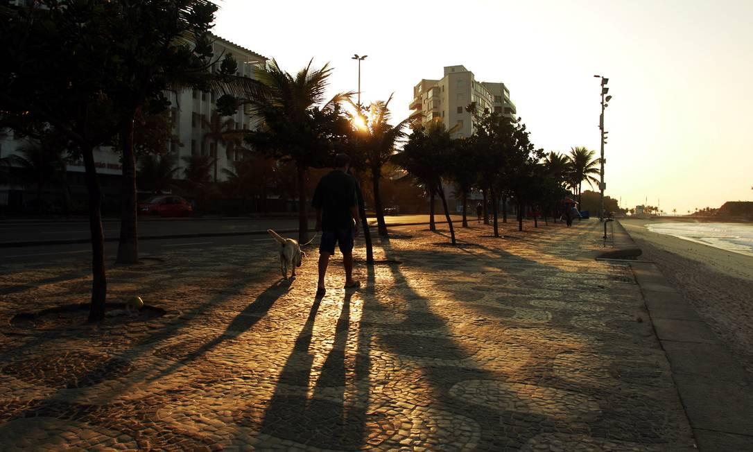 Mas se o resto do dia for igual ao amanhecer, o sábado promete um tempo ótimo para os cariocas Gabriel de Paiva / O Globo
