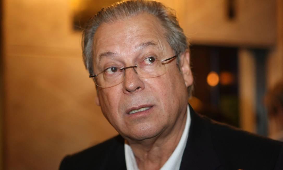 José Dirceu, ex-ministro da Casa Civil e um dos réus do processo do mensalão Foto: Arquivo / Marcelo Pui