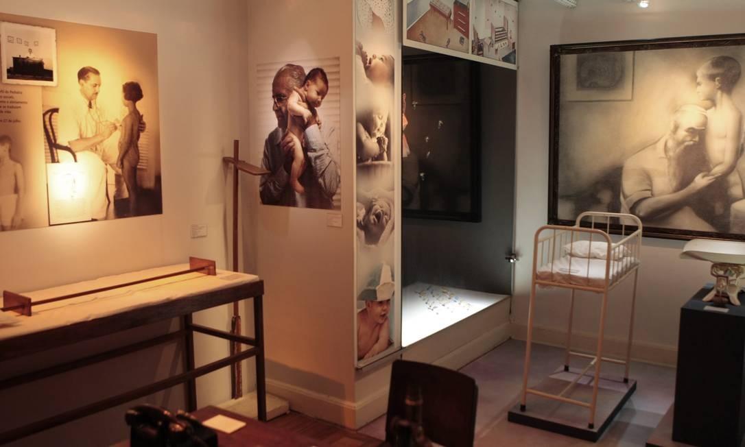 Pediatria. O museu, no Cosme Velho, guarda objetos e móveis que contam a história da especialidade no Brasil Foto: Gustavo Stephan / O Globo