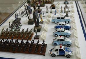 Miniaturas. No Museu da Polícia Militar, no Centro, a história da corporação Foto: André Teixeira
