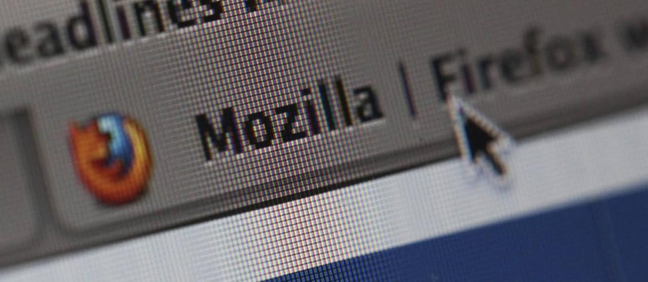 Navegador da Mozilla, o Firefoz, em tela de computador Foto: Bloomberg